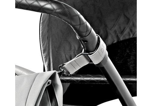 Dusq leather stroller straps – cloud grey