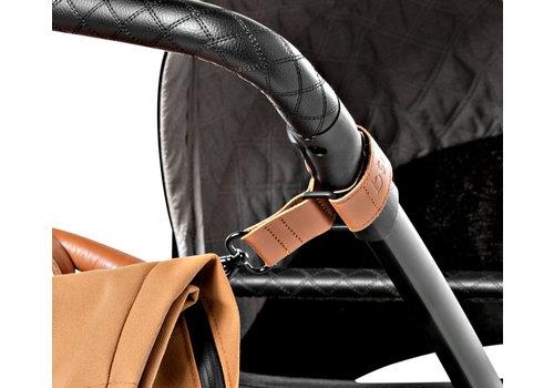 Dusq leather stroller straps – sunset cognac