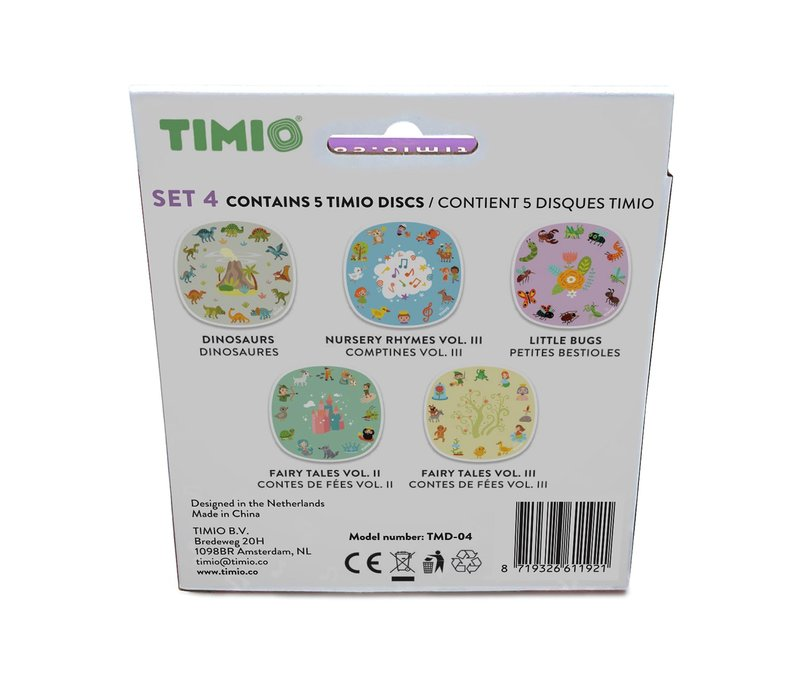 Timio Disc pack set 4