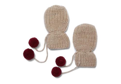 Konges Sløjd Tomani Knit Gloves Paloma Brown