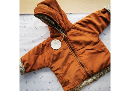 Konges Sløjd Theo Jacket reversible Cognac/Orangerie