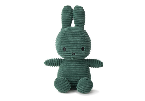 Nijntje Miffy Sitting Corduroy Dark Green - 23cm