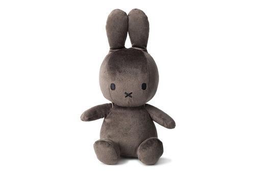 Nijntje Miffy Sitting Velvetine Dark Grey - 23cm