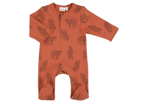 Trixie Onesie with feet Brave Bear