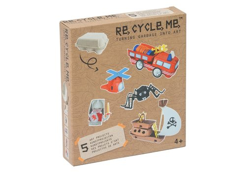 Re-Cycle-Me Knutselen met eierdozen