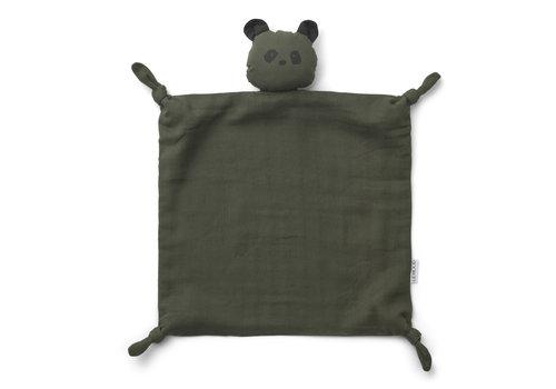 Liewood Agnete cuddle cloth Panda hunter green