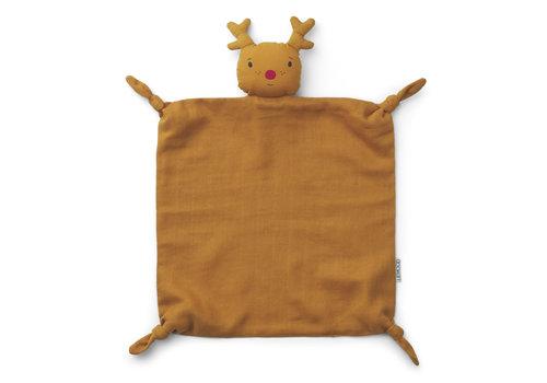 Liewood Agnete cuddle cloth Reindeer mustard