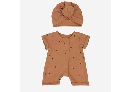 Bonjour Little doll outfit crazy dots nut+nut