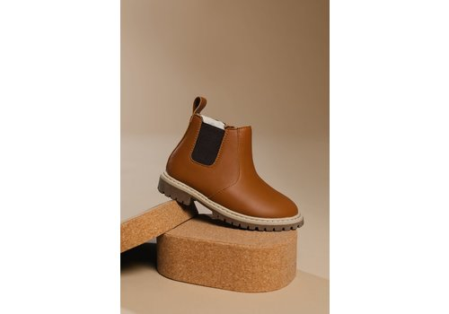 BabyMocs Little Explorer Boots thick lining - Cognac