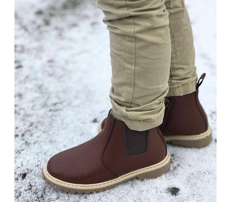 Little Explorer Boots thick lining - Dark Brown