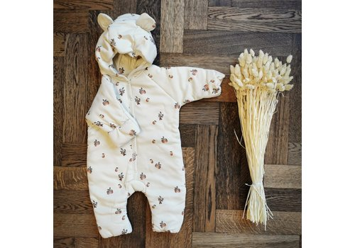 Konges Sløjd Newborn onesie with hood Poire