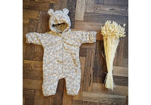 Konges Sløjd Newborn onesie with hood Orangerie Beige