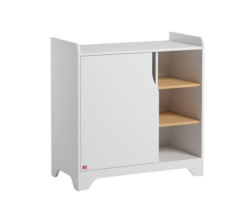 LEAF Dresser with changing unit white/oak