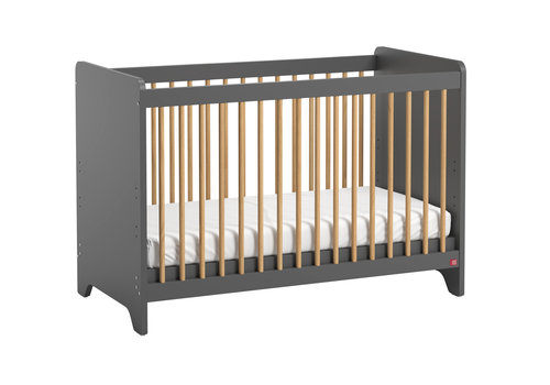 Vox LEAF Cot bed 60x120cm graphite/oak