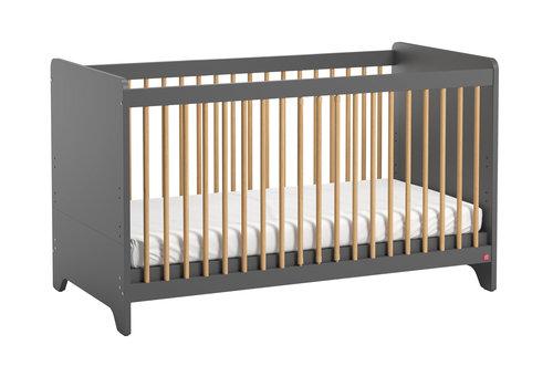Vox LEAF Cot bed 70x140 graphite/oak