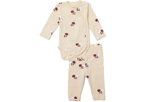 Konges Sløjd Christmas Newborn Pyjamas - Hearts