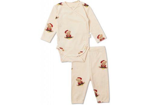 Konges Sløjd Christmas Newborn Pyjamas - Teddy