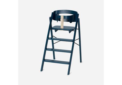 KAOS Klapp high chair beech petrol + safety rail