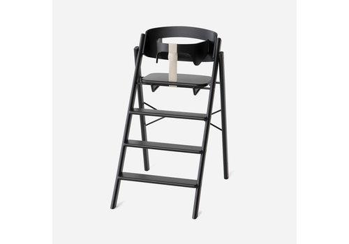 KAOS Klapp high chair beech black + safety rail