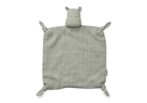 Liewood Agnete cuddle cloth Hippo dove blue