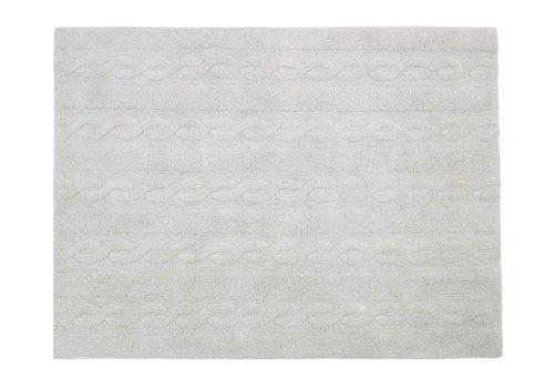 Lorena Canals Rug Braids 120x160 pearl grey