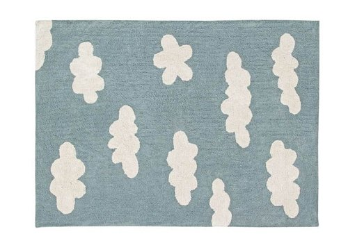 Lorena Canals Washable Rug Clouds Vintage Blue