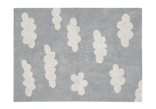 Lorena Canals Washable Rug Clouds Grey