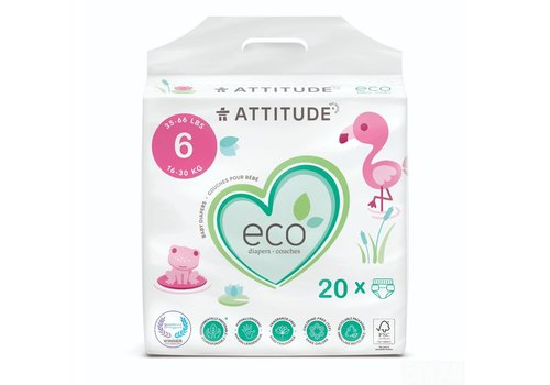 Attitude Biodegradable Baby Diapers Size 6