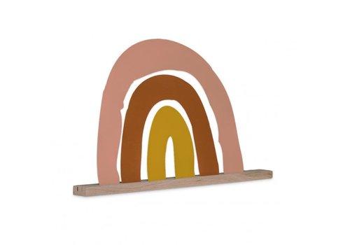 Atelier Pierre Regenboog magneetbord met eiken houder