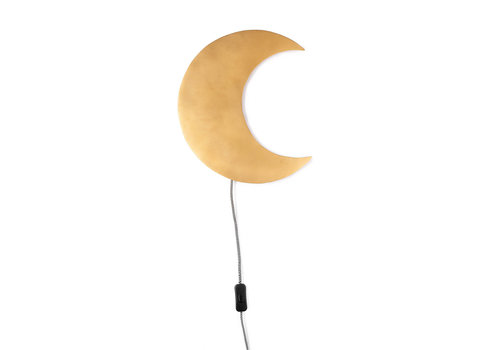 KidsDepot Barbo wall lamp gold moon
