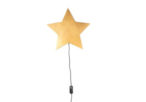 KidsDepot Barbe wall lamp gold star