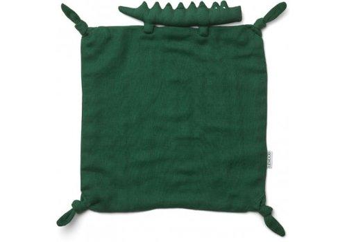 Liewood Agnete cuddle cloth Crocodile garden green