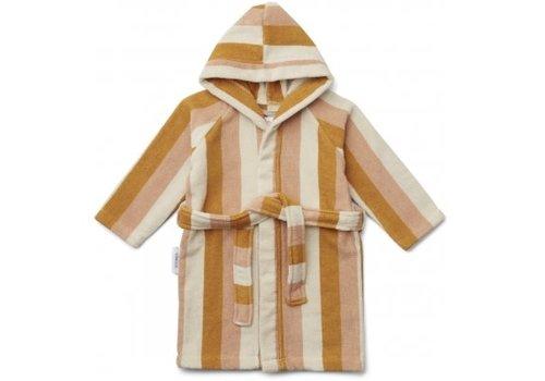 Liewood Reggie bathrobe stripe Peach/sandy/yellow mellow