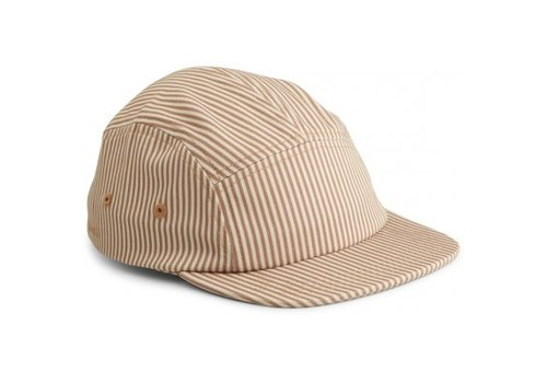 Liewood Rory cap Stripe Tuscany rose/sandy