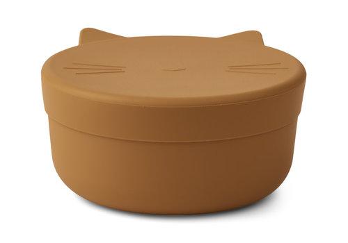 Liewood Snackdoosje Cornelius Cat mustard