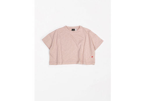 mundo melocotón T-Shirt Oversized Flamee Pink sand