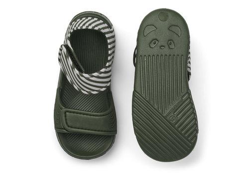 Liewood Blumer sandals Stripe hunter green/sandy