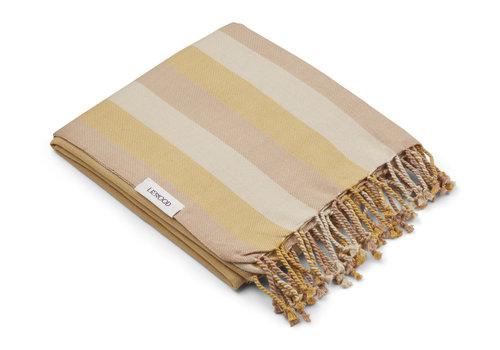 Liewood Mona beach towel Stripe peach/sandy/yellow mellow