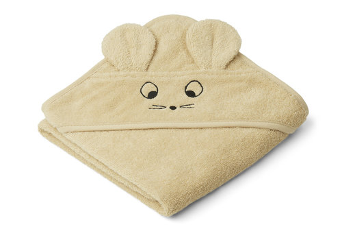 Liewood Albert hooded towel Mouse wheat yellow