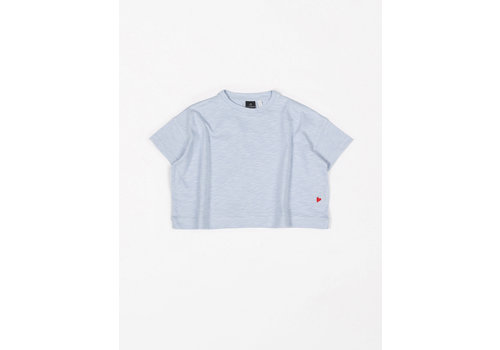 mundo melocotón T-Shirt Oversized Flamee Arctic Blue