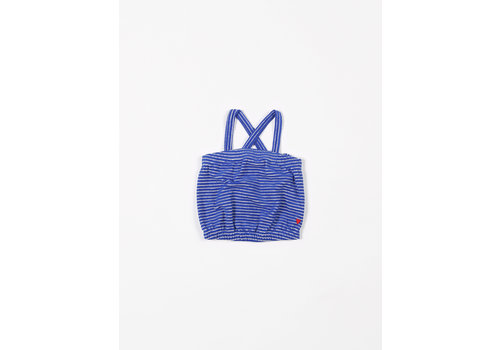 mundo melocotón Top Sport Terry Stripes Palace Blue