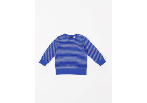 mundo melocotón Sweater Terry Stripes Palace Blue