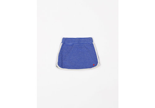 mundo melocotón Skirt Sport Terry Stripes Palace Blue