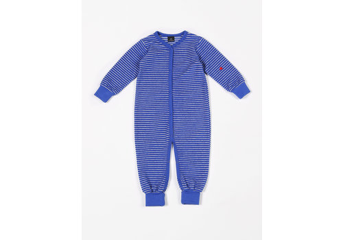 mundo melocotón Playsuit Terry Stripes Palace Blue