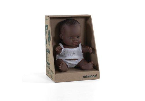 Miniland Babypop Afrikaans Meisje 21cm