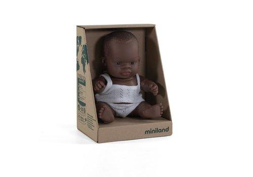 Miniland Babypop Afrikaanse Jongen 21cm