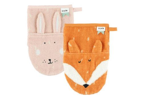 Trixie Washcloths 2-pack Mrs. Rabbit - Mr. Fox