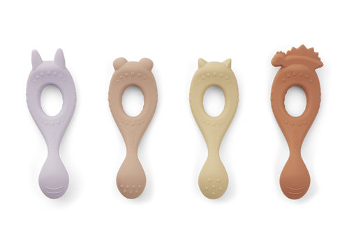 Liewood Liva silicone spoon 4-pack Lavender multi mix