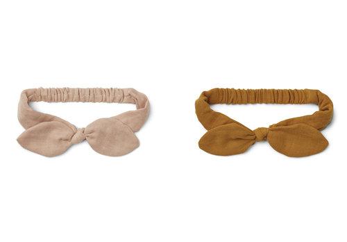 Liewood Henny headband 2-pack Rose mustard mix