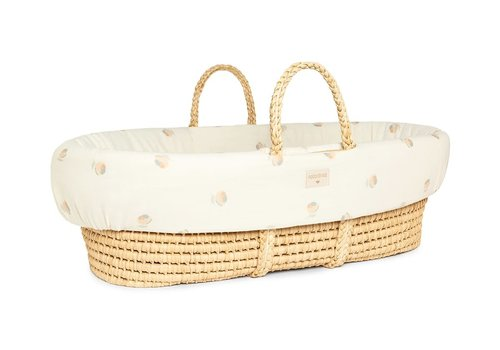 Nobodinoz Padded baby Moses cover 80x50 Blossom